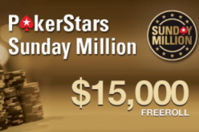 Nye Sunday Million freerolls - Premiepotten øker til $15.000 med enklere å kvalifisere seg! 0001