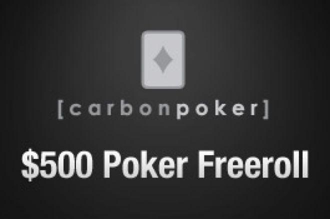 $500 freeroll turnering i dag hos Carbon Poker - lavt antall spillere med! 0001