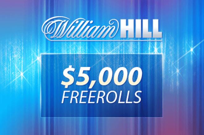 $5.000 Freeroll most vasárnap a William Hillen! 0001