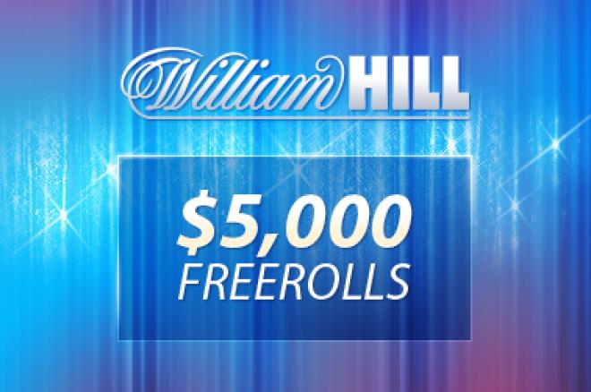 Siste eksklusive $5000 freeroll hos William Hill Poker - Enda tid for å kvalifisere seg! 0001