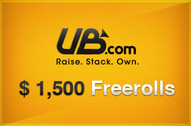 UB ja Absolute Pokeri $1,500 freeroll 21.novembril 0001