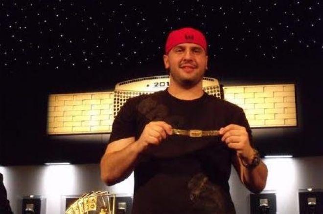 Michael Mizrachi с първата си WSOP златна гривна