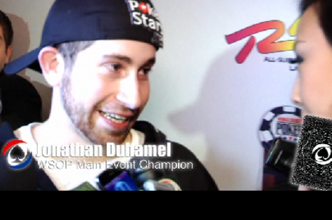 Jonathan Duhamel пред камерата на PokerNews