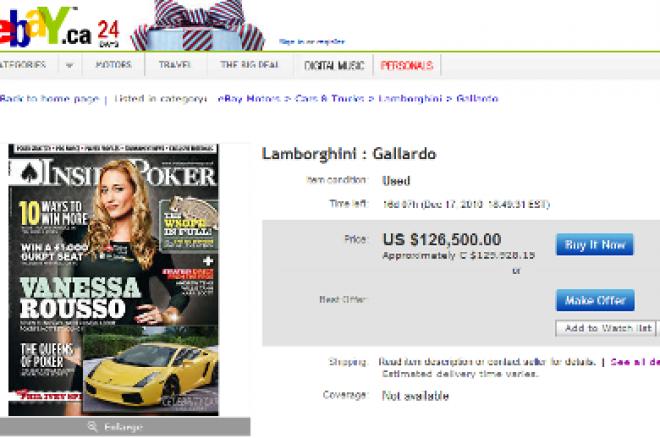 Vanessa Rousso's Lamborghini on eBay