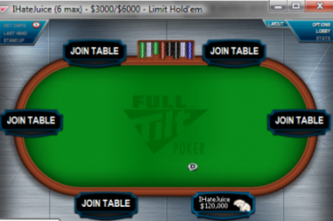 Full Tilt Poker otevřel nový limit - $3,000/$6,000 0001