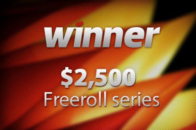 10 poeng for å delta i årets første $2.500 freeroll hos Winner Poker i kveld - fortsatt... 0001