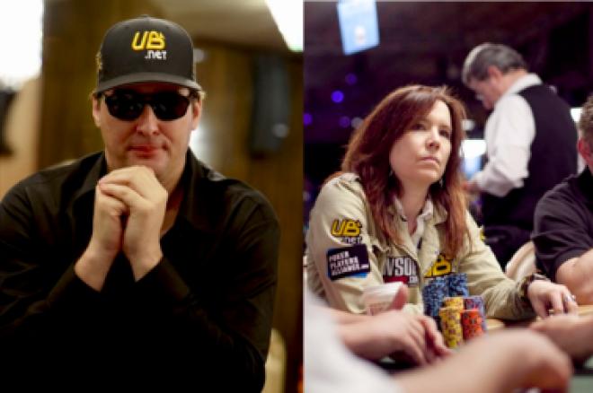 Phil Hellmuth i Annie Duke poza UB 0001