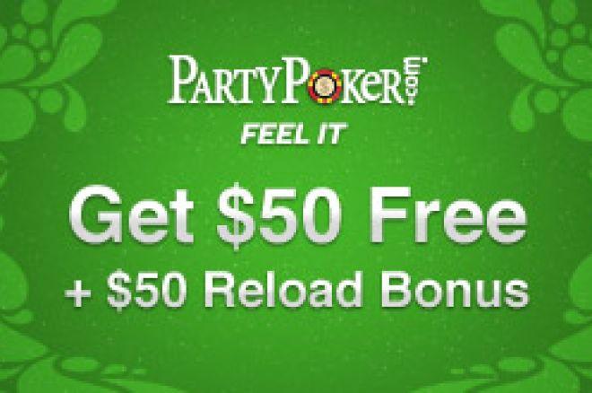 Nemokami $50 PartyPoker kambaryje + Reaload premija 0001