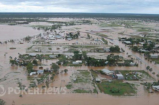 Välgörenhet till översvämingsdrabbade i Queensland, Australien
