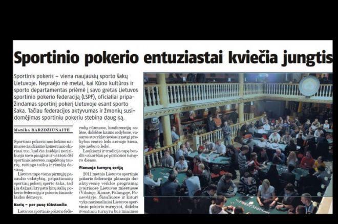 """""""Lietuvos ryte"""" - visas puslapis, skirtas sportiniam pokeriui ir taip pat atskleista Mystery... 0001"""