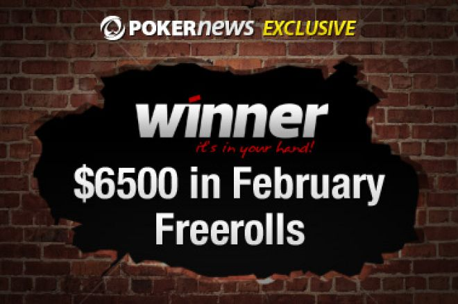 Winner Poker anuncia tres freerolls exclusivos de Pokernews para Febrero 0001