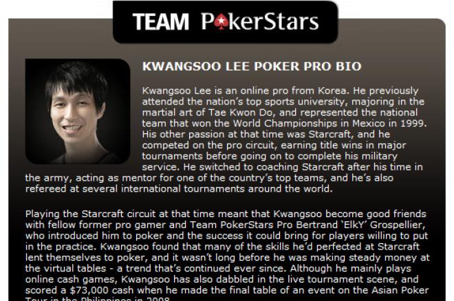 韩国人第一次成为PokerStars扑克之星明星队成员!! 0001