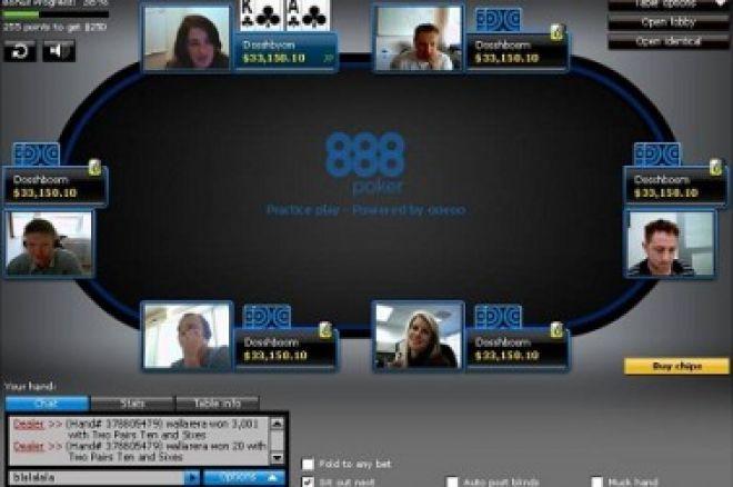 Nové stoly s web kamerou na 888 Pokeru 0001