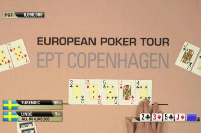 Michael Tureniec vinner över Per Linde i EPT Köpenhamn