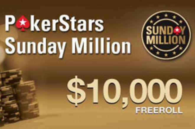 Kvalifikuj se za PokerStars $10.000 Sunday Million Freeroll! 0001
