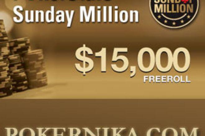 $30.000 u Ekskluzivnim PokerStars Sunday Millions Freeroll Turnirima 0001