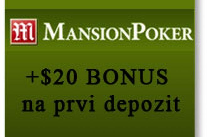 Manison Poker: +20$ automatski na prvi depozit od $20 0001