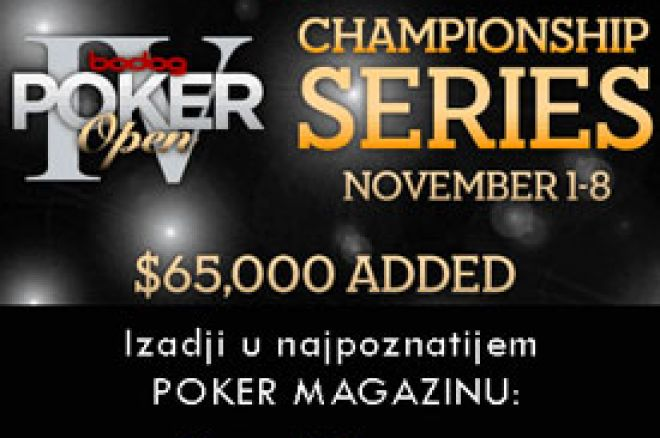 Bodog Poker Open IV u Novembru 0001