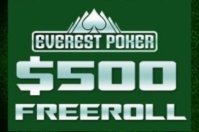 Igraj naše ekskluzivne $500 Cash Freeroll Turnire na Everest Pokeru! 0001