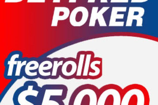 Freeroll od $5.000 na Betfred Pokeru, pogledaj ovde kako do učešća! 0001