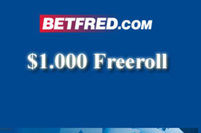 Sutra $1.000 Freeroll na Betfred Pokeru! 0001