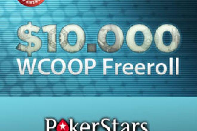 $10.000 WCOOP Freeroll na PokerStarsu - poslednja šansa za kvalifikaciju 0001