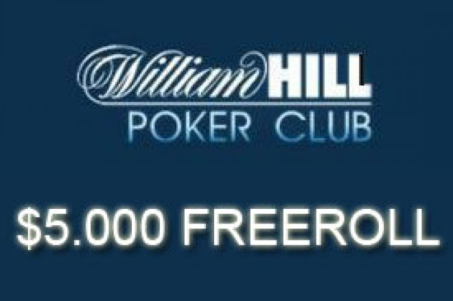 $2.000 & $5.000 Freeroll turniri ove nedelje na William Hill Pokeru - samo 27 poena za... 0001