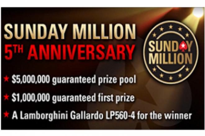 PokerStars najavio Sunday Million godišnjicu - $5 Miliona Zagarantovano 0001