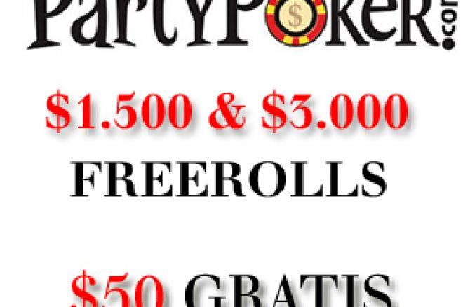 $1,500 Cash Freeroll turniri na PartyPoker-u 0001