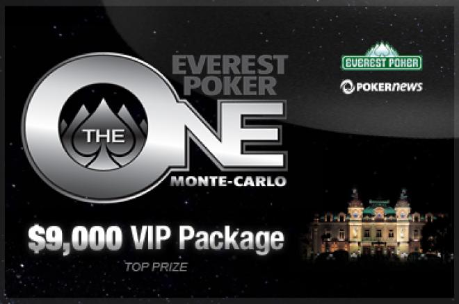 Wygraj pakiet $9,000 na Everest Poker One w Monte Carlo, dzięki naszym turniejom na hasło 0001