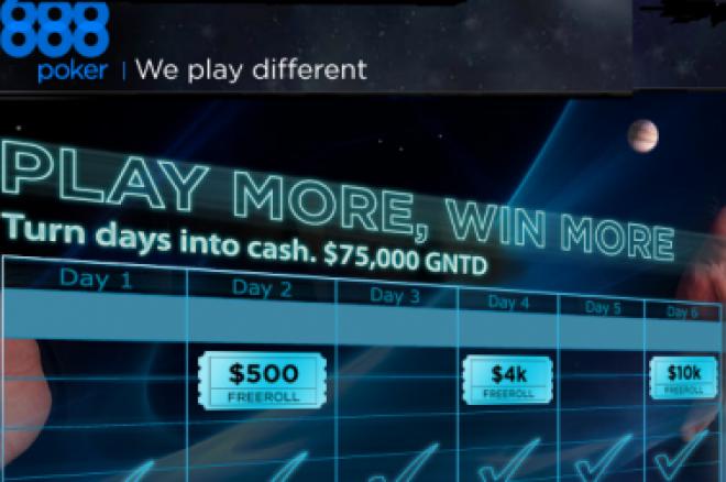 888 Poker Spēlē vairāk, vinnē vairāk iknedēļas frīrolli 0001