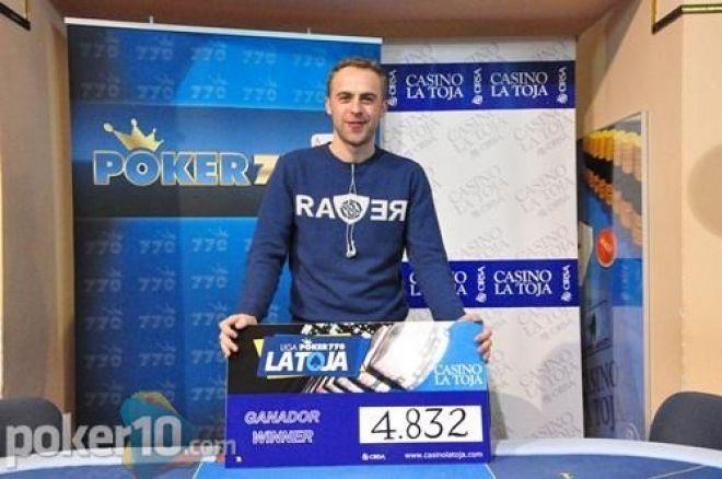Javier Muiños es el campeón de la tercera etapa de la Liga poker770 La Toja 0001