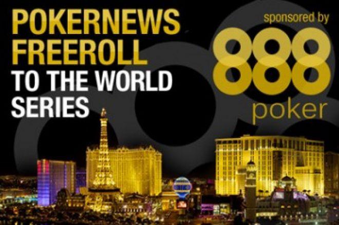 PokerNews Freeroll za WSOP uz 888 Poker 0001