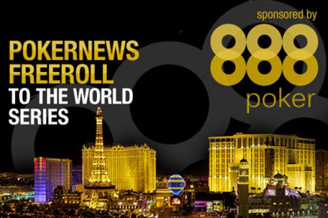 PokerNews freerolls til WSOP med 888 Poker 0001