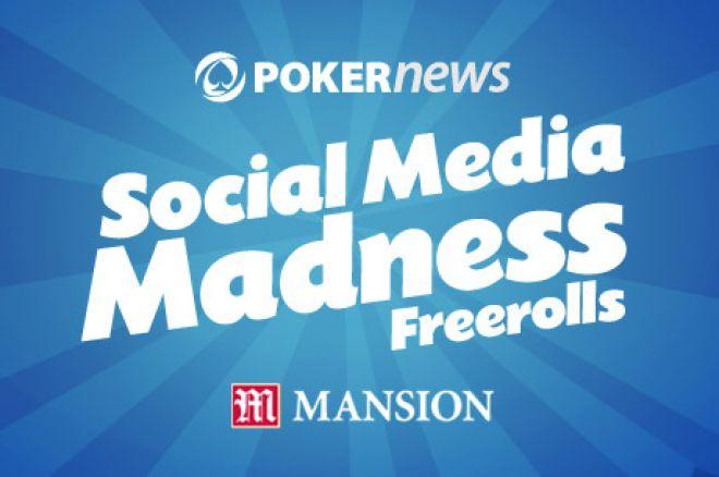 Социальное Медиа Безумие от PokerNews - Первый фриролл... 0001