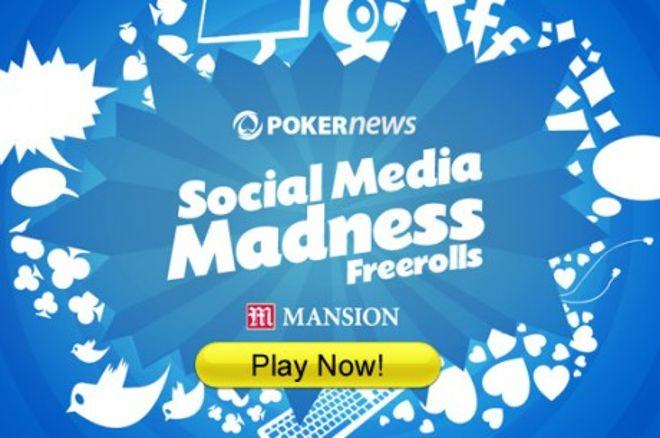 Sociālo mediju trakums Mansion Poker istabā - depozīts nav vajadzīgs! 0001