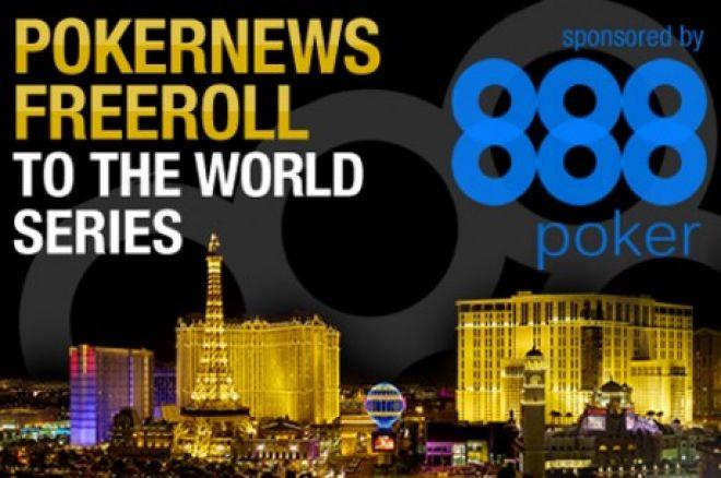 888 Poker ir PokerNews nemokamas turnyras į WSOP 0001