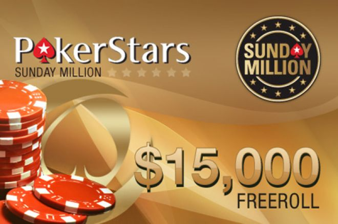 Ekskluzīvi $15,000 Sunday Million frīrolli 0001