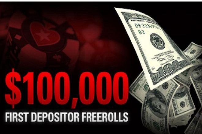 $100,000 във фрийроли за новодепозирали играчи в PokerStars 0001