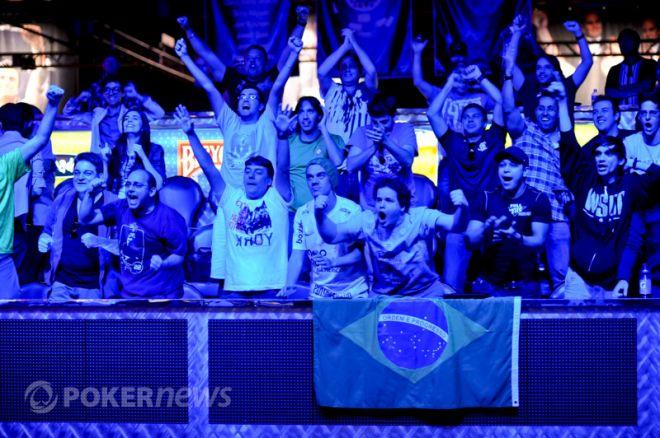 Brazilians celebrate Andre Akkari's bracelet.