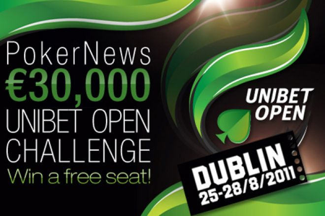 Hurry for the Final €1k Unibet Open Freeroll on Friday 0001