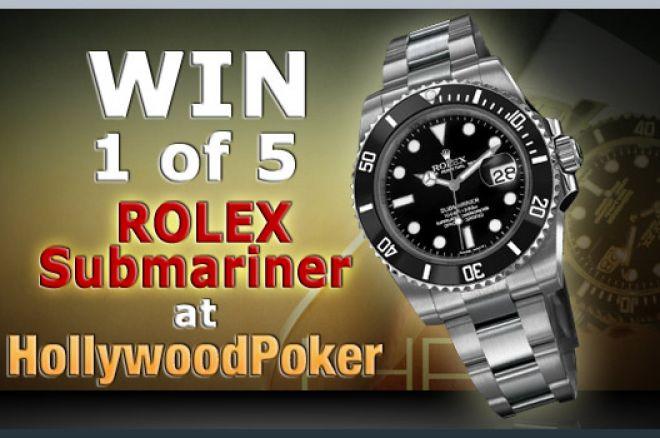 Спечелете часовник Ролекс или $5,000 в Hollywood Poker 0001