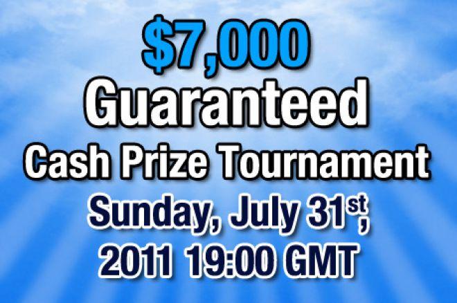 $7.000 garantert turnering hos Rummy Royal på onsdag 31. juli 0001