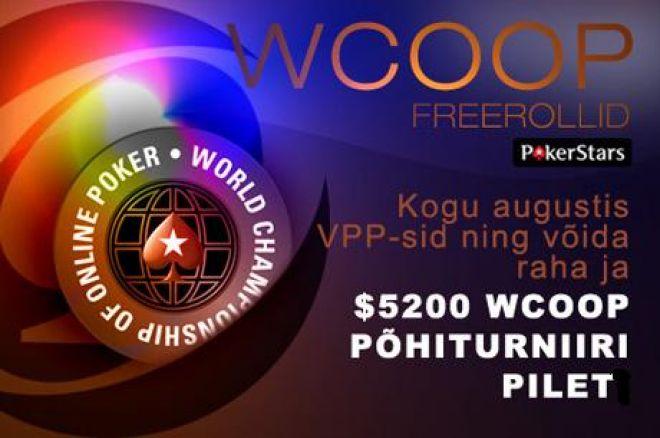 Tulekul $22 500 väärtuses PokerNews WCOOP freerolle 0001