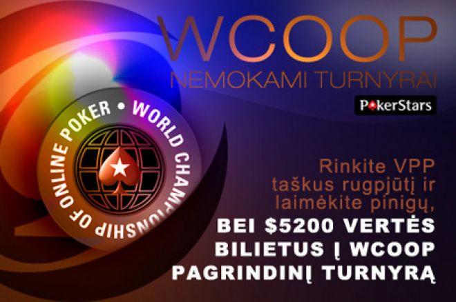 Išskirtiniai $22,500 vertės PokerNews WCOOP nemokami turnyrai 0001