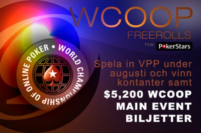 Exklusiva $22,500 PokerNews WCOOP Freerolls 0001