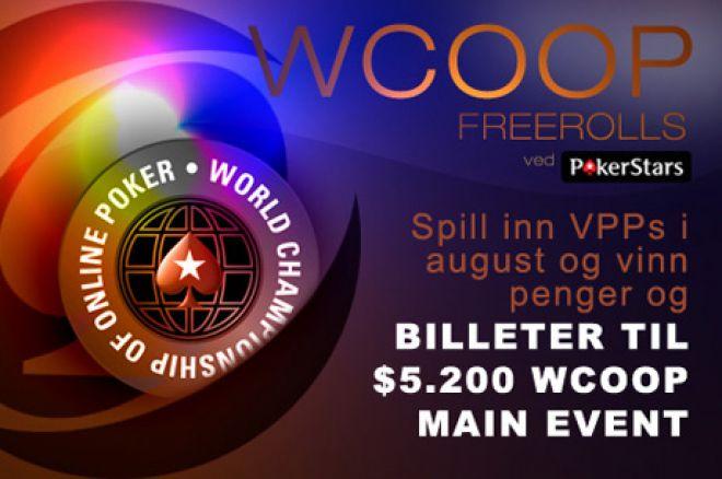 Eksklusiv $22.500 PokerNews WCOOP Freerolls 0001
