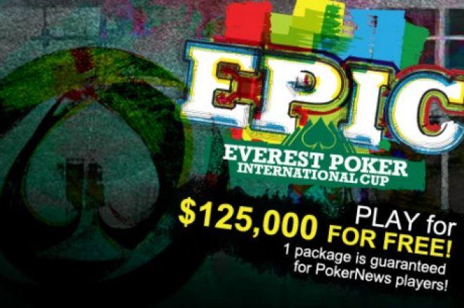 Vēl ir laiks kvalificēties mūsu EPIC līgai Everest Poker! 0001