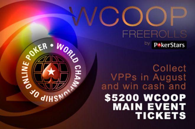 Pēdējā diena lai kvalificētos WCOOP freeroll turnīriem! 0001
