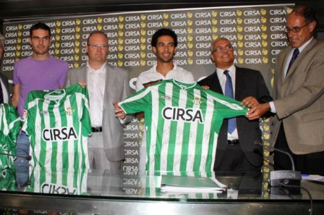 Presentación del acuerdo entre el Betis y Cirsa